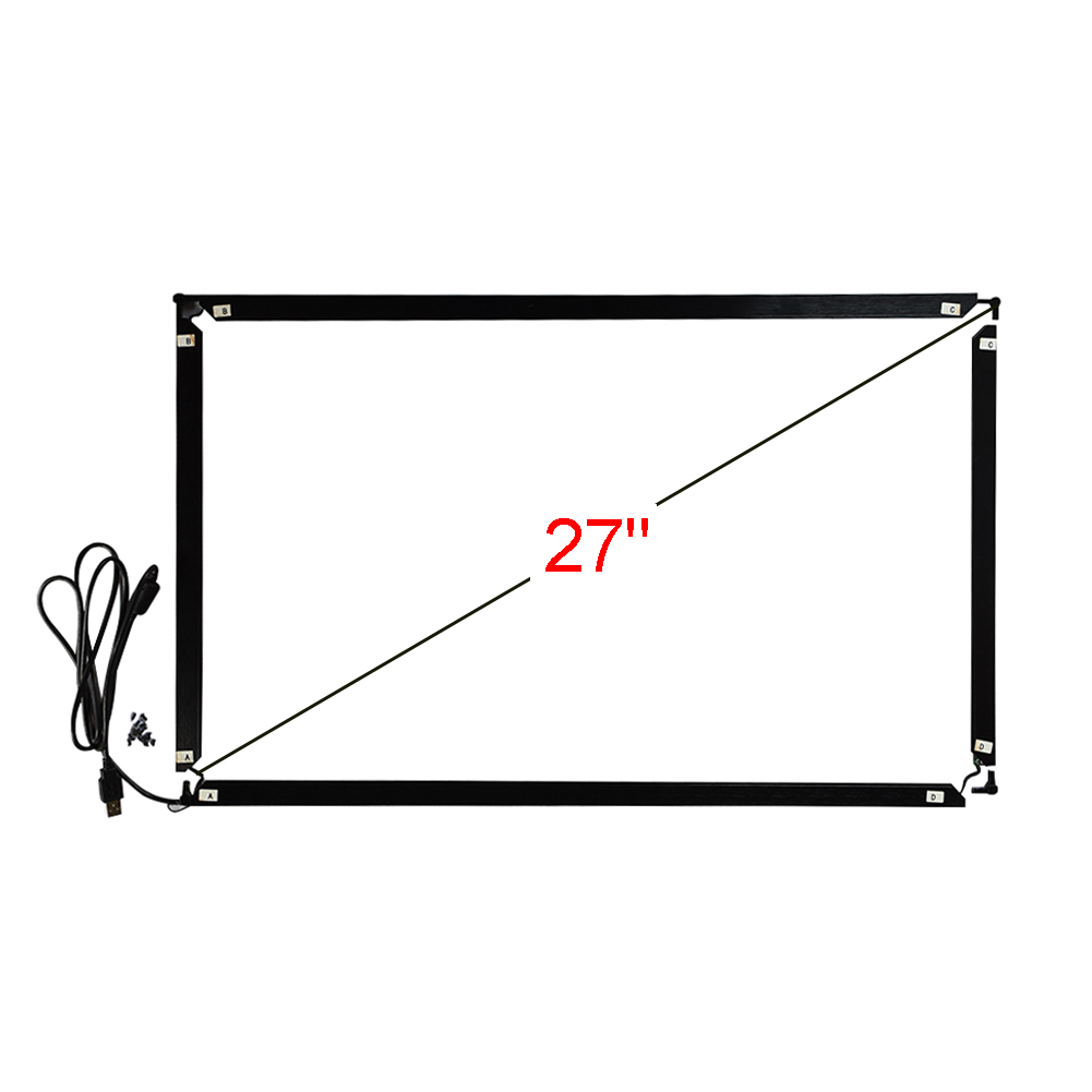 27 polegada 16:9 infravermelho multi touch frame 639*378mm 10 pontos toque interface usb