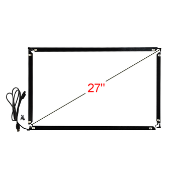 27inch 16:9 Infrared Multi Touch Frame 639*378mm 10 Point Touch USB Interface