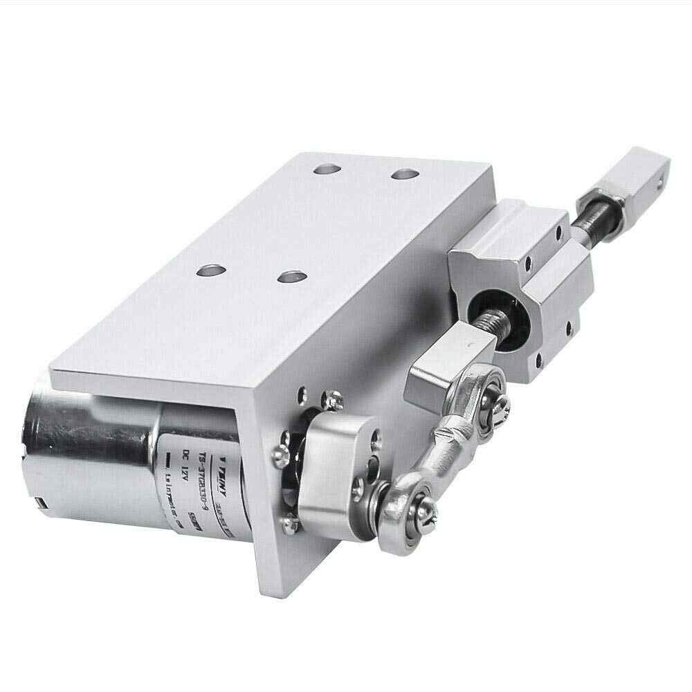 بطارية تيار مباشر موتور 12 فولت 24 فولت السكتة الدماغية 12/16/20 مللي متر قابل للتعديل 5 ~ 1000 دورة في الدقيقة الصغيرة لتقوم بها بنفسك تصميم الترددية دورة محرك ميكانيكي طولي