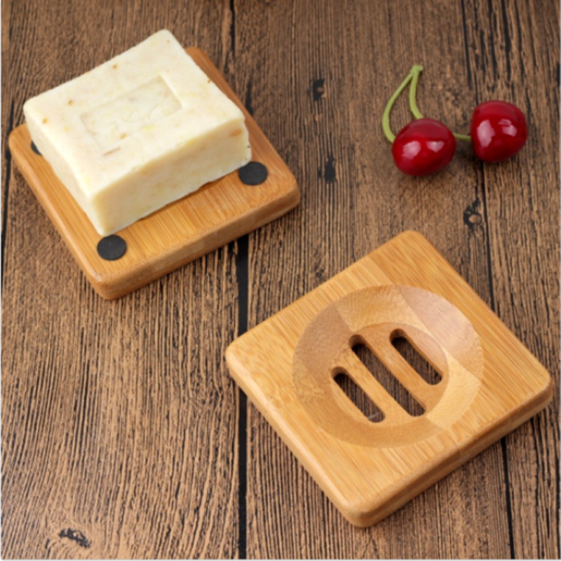 Wooden Natural Bamboo Soap Dish New Portable Soap Tray Holder Natural Bamboo Wooden Soaps Dish Box Case Bath Shower Plate