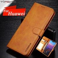 Funda de cuero con tapa para móvil, carcasa magnética para Huawei P40 P30 P20 Mate 30 20 10 Pro Lite P Smart Z Plus Y9 Y5 2019 Nova 3e 7i