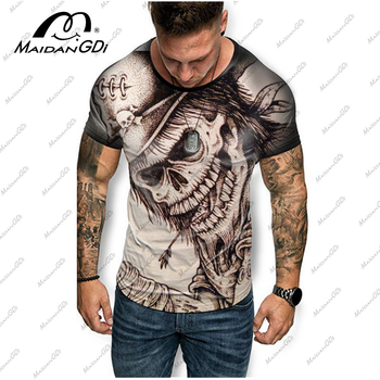 MDD Men clothes 2020 New Mens Summer Skull Print Men Short Sleeve T-shirt 3D print t Shirt Casual Breathable funny t shirts mystery mdd 7900ds