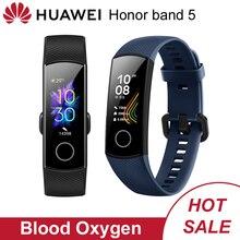Huawei onur Band 5 küresel sürüm Smartband 50m su geçirmez smartwatch spor izci dokunmatik ekran nabız monitörü ekran