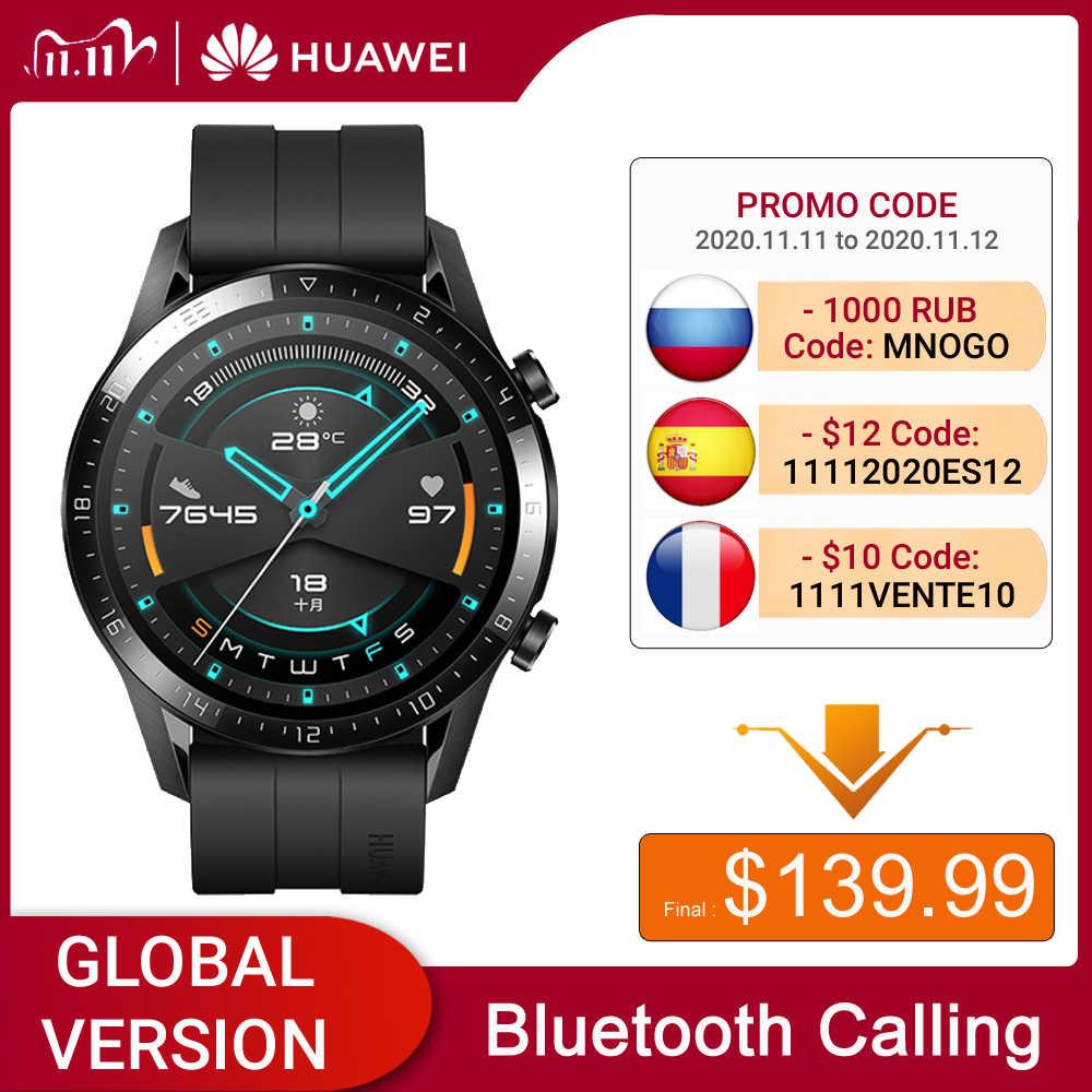 HuaweiนาฬิกาGT 2 Smartwatch Global VersionเลือดออกซิเจนSpo2 บลูทูธ 5.1 สมาร์ทนาฬิกาโทรศัพท์สำหรับAndroid IOS