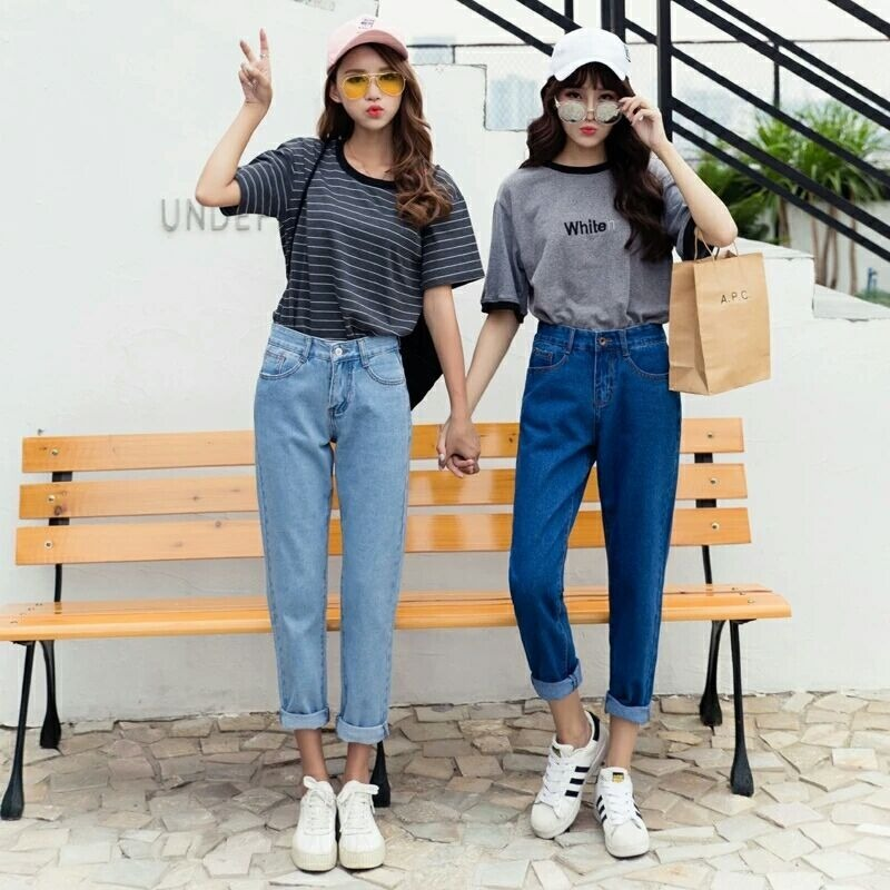Autumn   jeans   women Fashionable Blue High Waist Loose Denim   Jeans   Female Harem Pants Trousers boyfriend   jeans   for women -85
