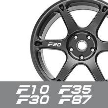 4PCS Set Car Wheel Rim Stickers For BMW F26 F30 F31 F32 F33 F34 F35 F45 F46 F48 F80 F82 F85 F87 Auto Accessories Vinyl Decals