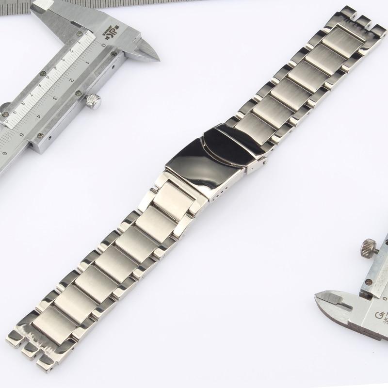 Bracelet de montre en acier inoxydable poli, 22x20mm, 19x17mm, en métal givré, Logo sur le Bracelet Swatch Bracelet de montre