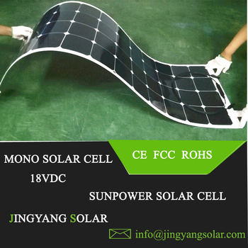 Popular Sunpower 100w semi flexible solar panel for boat ebike and aircraft