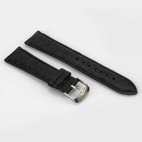 P26 Haute Qualité décontracté Bracelet De Montre De Mode Motif Bracelet de Montre En Cuir Noir Et Blanc avec Motif Marron 22/20