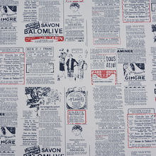 Factory Direct New English Newspaper Printing 100% Cotton Canvas, Handmade DIY Printed Fabric , Tablecloth Tablecloth(China)