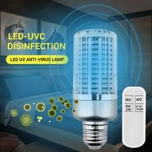 60W UV Germicidal Lamp E27 Led UVC Corn Bulb Disinfection Sterilizer Ozone Free LED Lights Home Clean Air Kill Bacteria Mites