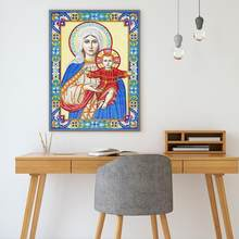 5D DIY Diamond Painting Special Shaped Religious Embroidery Craft Kit Home Bedroom Decor Children Manual Exercise Tools(China)
