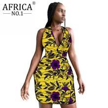 Сексуальное мини женское платье для вечерние облегающее Африканское