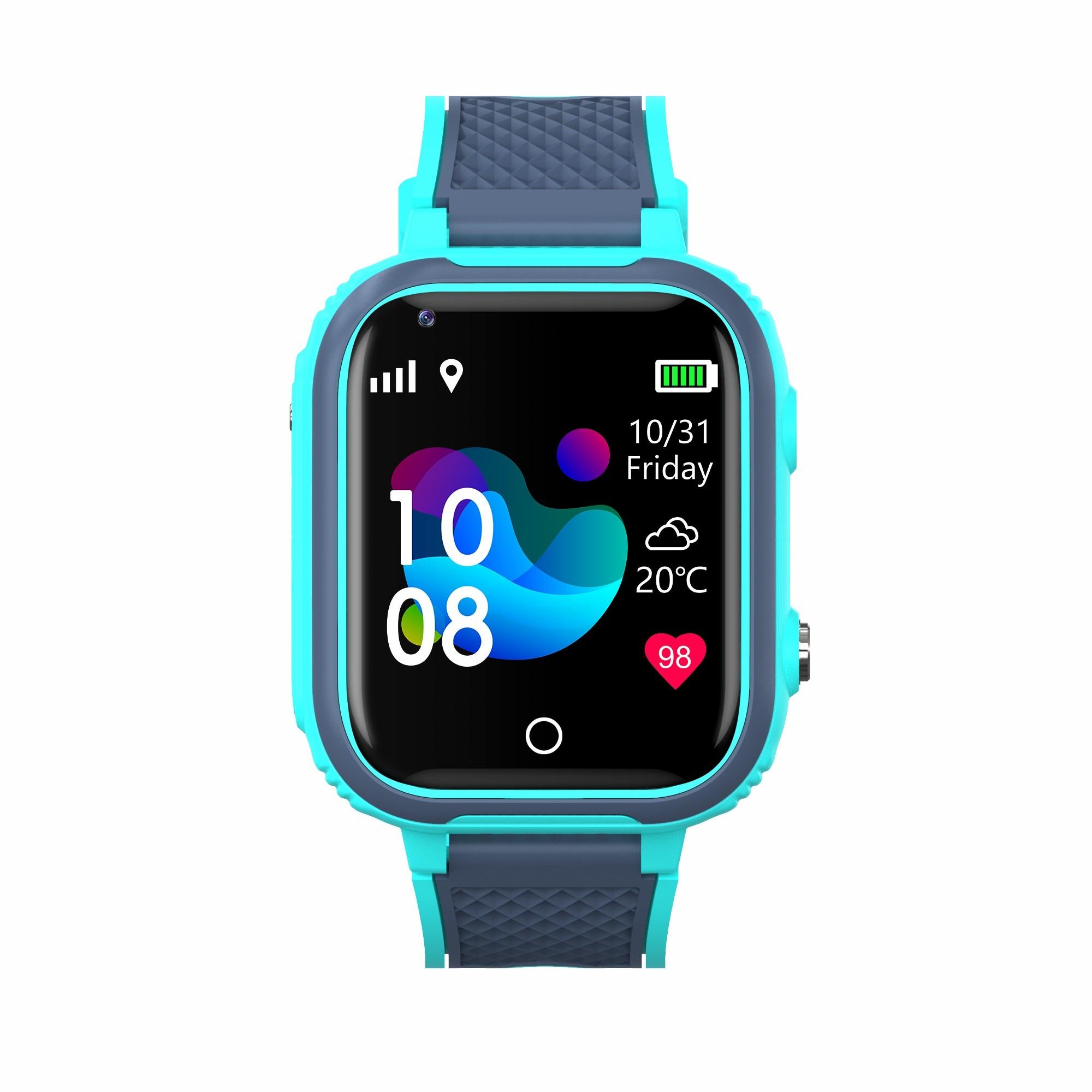 H4c1d620090394c7f90ad4696ee09a8c3W LT21 4G Smart Watch Kids GPS WIFI Video Call SOS IP67 Waterproof Child Smartwatch Camera Monitor Tracker Location Phone Watch