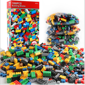 1000 Pieces DIY Building Blocks Bulk Sets City Creative Classic Technic Creator Bricks Assembly Brinquedos Kids Educational Toys ninjagos dragon model building blocks sets ball creator figures brinquedos juguetes city bricks technic educational kids toys