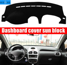 For Peugeot 206 2004 2005 2006-2008 Dashboard Cover Sun Shade Dash Mat Pad Carpet Car Stickers Interior Accessories