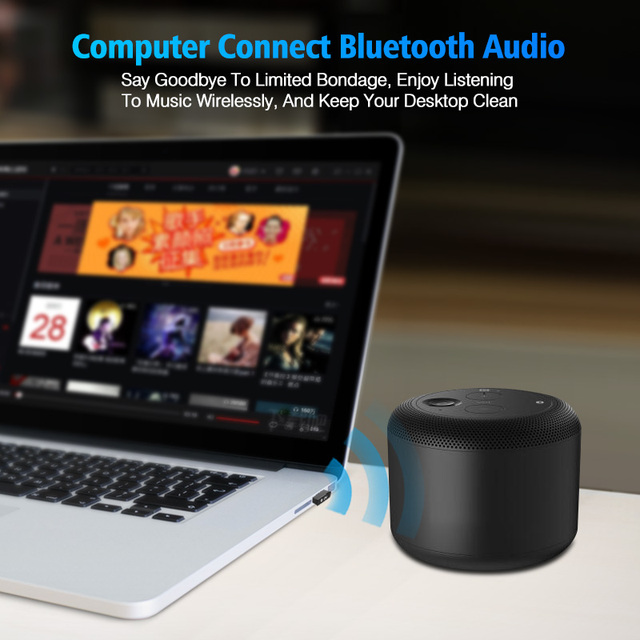 USB Bluetooth Adapters BT 5.0 USB Wireless Computer Adapter Audio Receiver Transmitter Dongles Laptop Earphone BLE Mini Sender 3