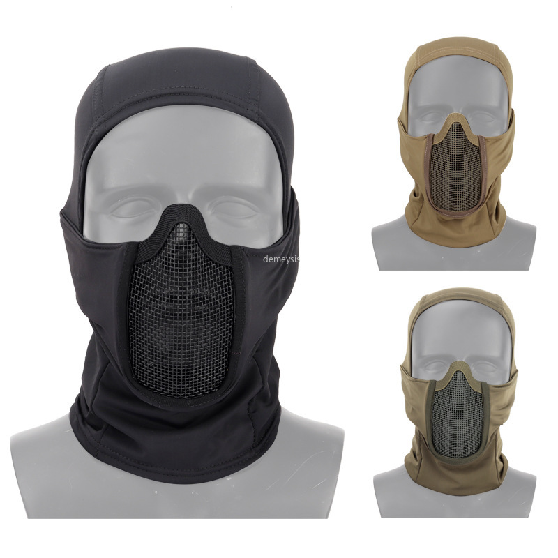 Tactical Headgear Mask Steel Mesh Breathable Military Airsoft Paintball Mask Outdoor Hunting Shooting CS Protect Mask Headgear
