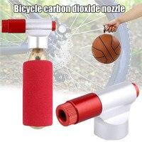 Bombas de pneus de bicicleta mini portátil co2 bicicleta com rosca ciclismo pneu inflator fou99|Válvula| |  -