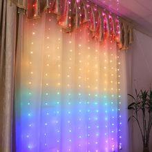 150 см светодиодный гирляндой гирлянда Шторы лампы дистанционного