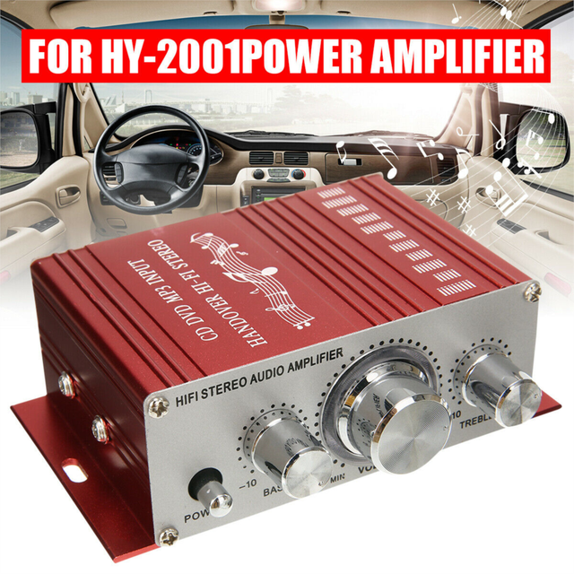Stereo  12V Mini  Power  Stereo Audio  LED  Control For Car Home Radio MP3  Mini Moto