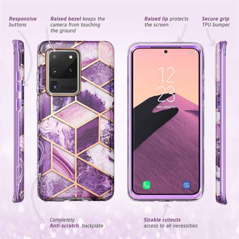 Untuk Samsung Galaxy S20 Ultra 5G Case I-Blason Cosmo Full-Body Glitter Marmer Bumper Case tanpa Built-In Screen Protector