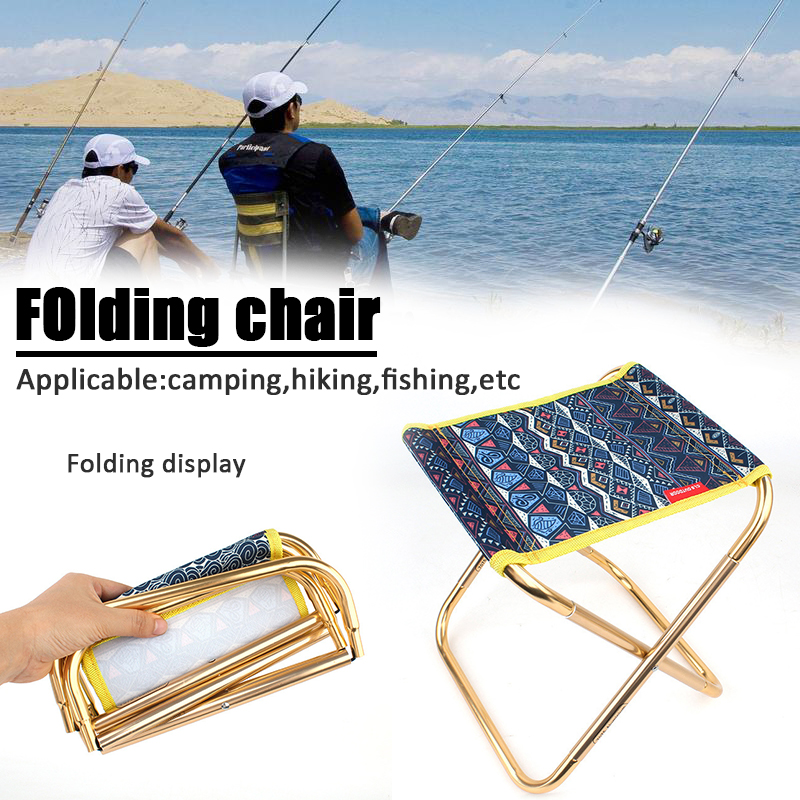 Folding Fishing Chair Lightweight Picnic Camping Chair Foldable Aluminium Cloth Outdoor Portable Easy To Carry Outdoor Tools 7