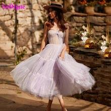 Sodigne фиолетового цвета на одно плечо платье для выпускного