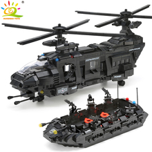 Swat Police Helicopter City-Bricks Army Spaceship-8 Military Toys Figures Building-Blocks