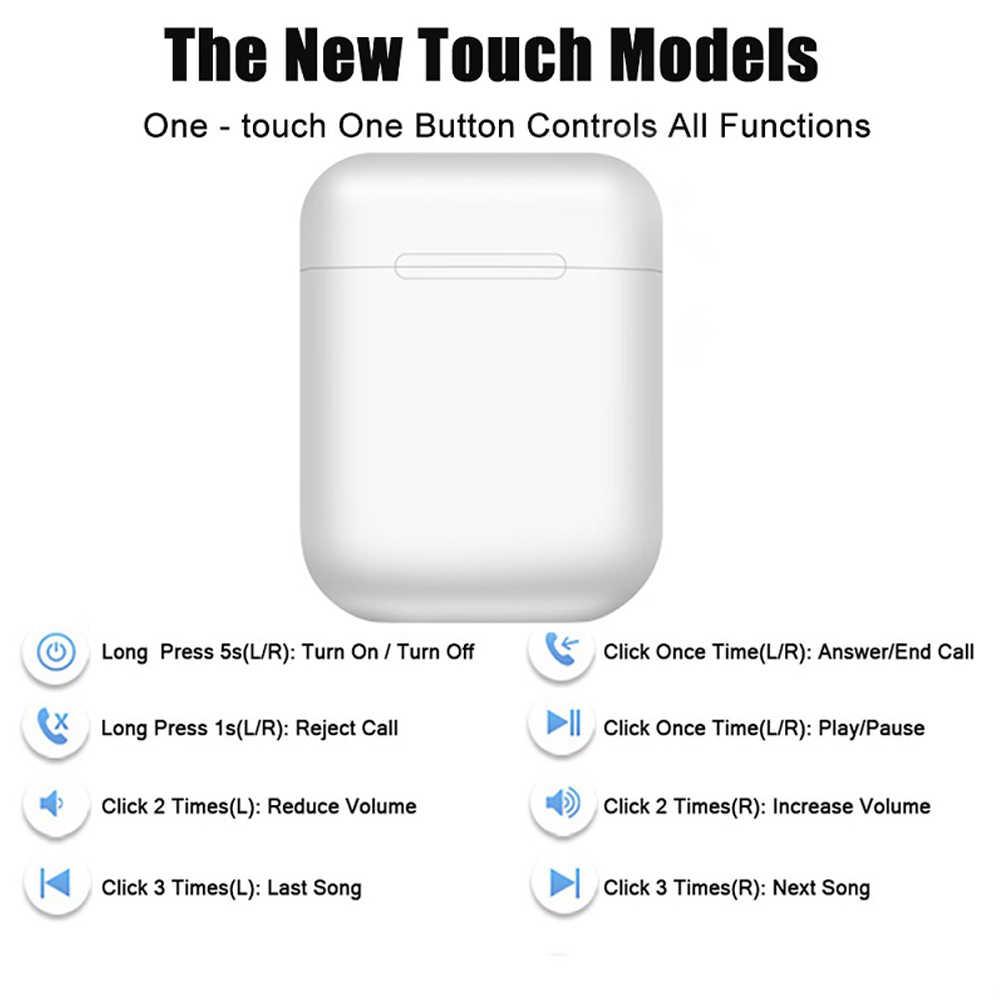 Macaron i12 tws Draadloze Koptelefoon Bluetooth 5.0 Hoofdtelefoon Headset Originele Touch Pop-up True Stereo Oordopjes Oortelefoon voor telefoon