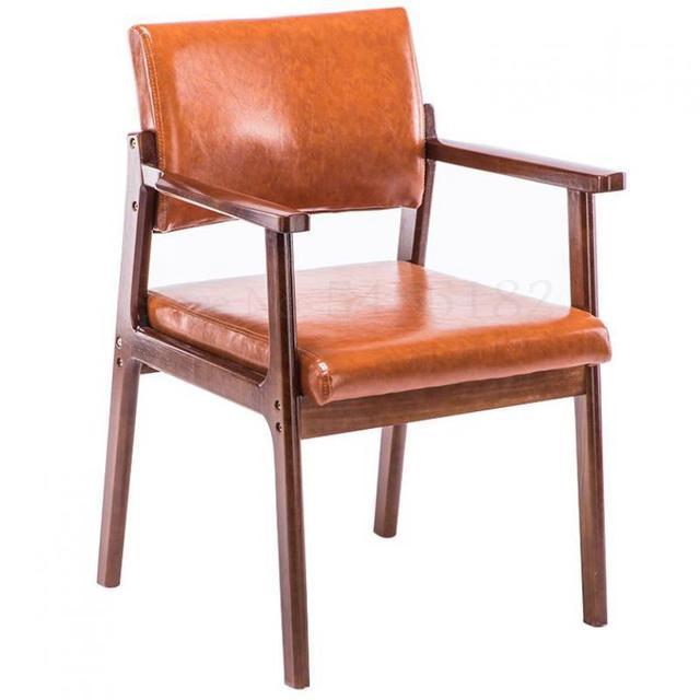 Solid Wood  Modern Minimalist Armrest Chair 1