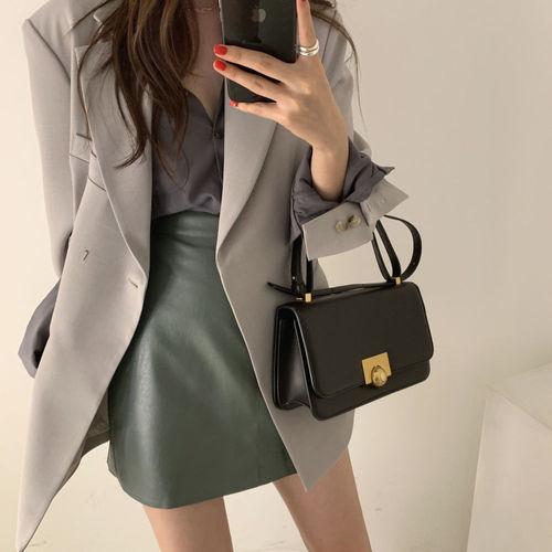 YAMDI Women Office Lady Blazer Jacket 2019 Designer High Quality Notched Collar Blazer Coat Korean Fashion Autumn Winter Suits B
