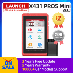 Launch X431 Pros Mini Auto Diagnostic Tool Full System X-431 Car Scanner ECU Coding Analyzer Professional 2 Years Free Update
