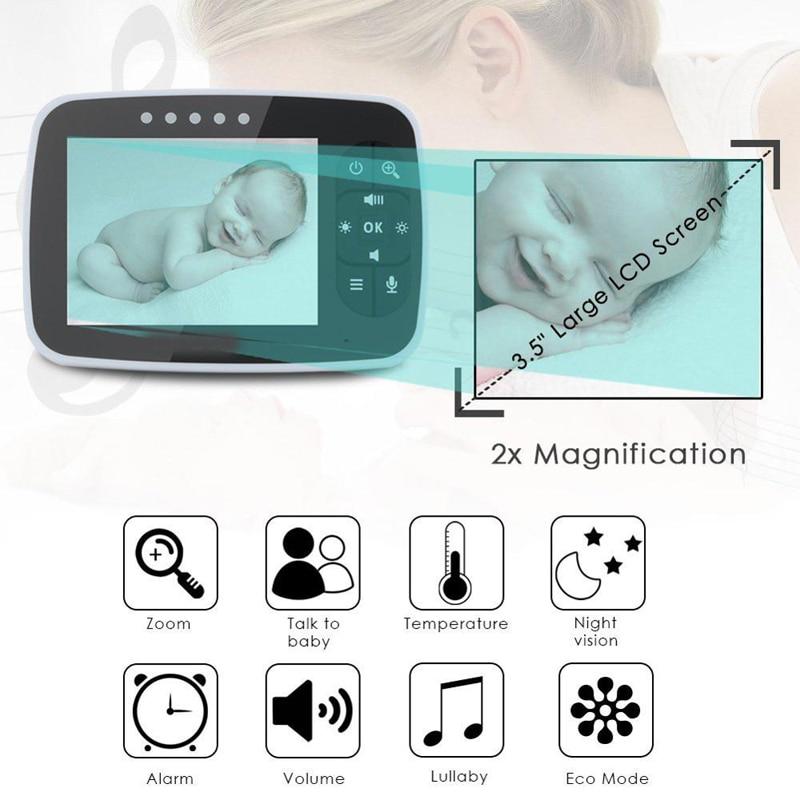 3,5 дюйма ЖК-дисплей беспроводной 2 Way аудио разговор ночное видение наблюдение за ребенком монитор bebe телефон камера безопасности babyphone bebes н...