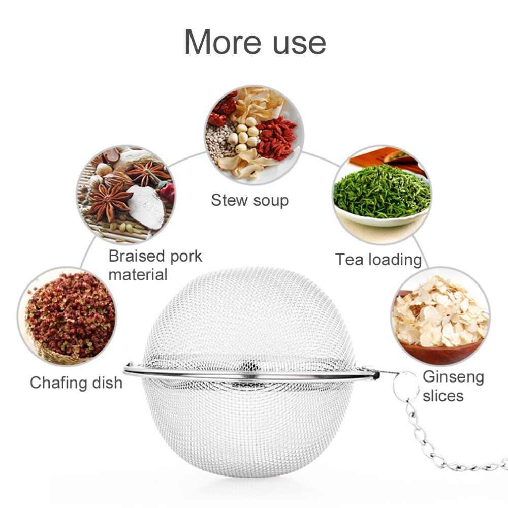 便利なステンレス鋼ハンドル茶メッシュボールフィルター安定した茶ストレーナー強力な茶注入器中国風
