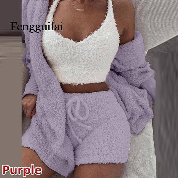 Knitted 2 Piece Set Short Jumpsuit & Romper Women Autumn Soft Warm Sexy Playsuit Winter Female Plus Size Club Overalls