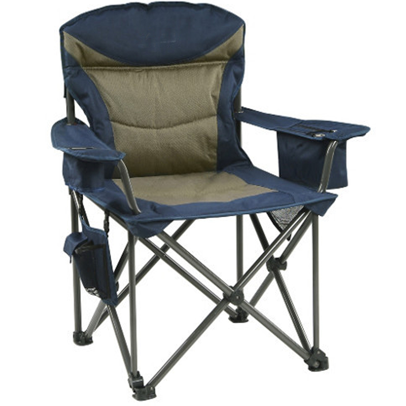 Gweger Outdoor Portable Fishing Stool Leisure Trip Lunch Break Back Lounge Chair Camping Sketch Fold-out Chair With Padded Cotto