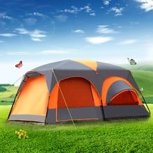 אחד בסלון שני שינה Ultralarge שכבה כפולה עמיד למים משפחה צד חיצוני קמפינג אוהל אראקה ביתן גדול