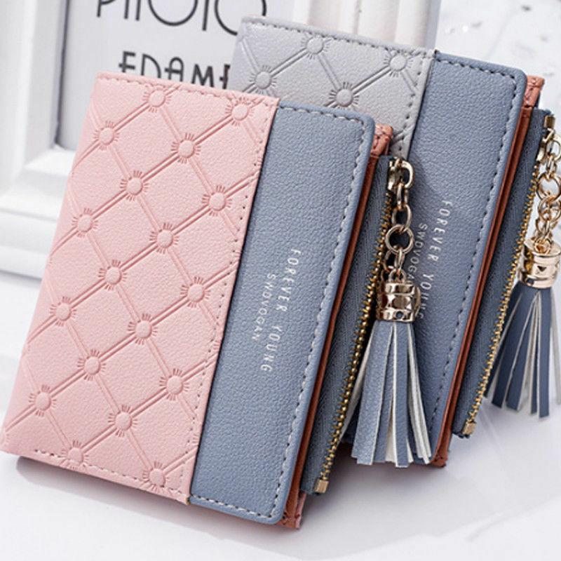 Women Girls Short Wallet Coin Purse Organizer Pocket Small Credit Card Holder