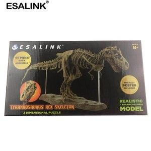Image 5 - ESALINK puzle de interior de 70Cm para bebé, juguete de dinosaurio, hueso fósil ensamblado, marco, juguetes educativos, adornos para decoración del hogar