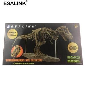 Image 5 - Esalink 70 cm brinquedos do bebê brinquedo de quebra cabeça interior dinossauro osso fóssil montado brinquedos quadro brinquedos educativos decoração para casa ornamentos