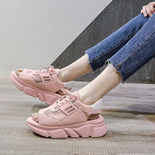 Fish mouth slides womens summer chunky sneakers breathable daddy shoes girls platform 2020 fashion arrival