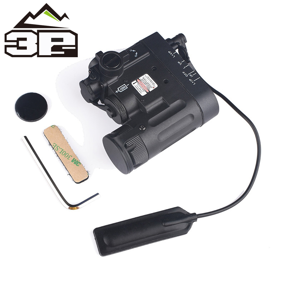 Airsoft Tactical Flashlight DBAL MKII IR Laser LED Torch Multifunction Softair DBAL D2 Weapon Lights Red Laser DBAL A2 EX328-in Weapon Lights from Sports & Entertainment