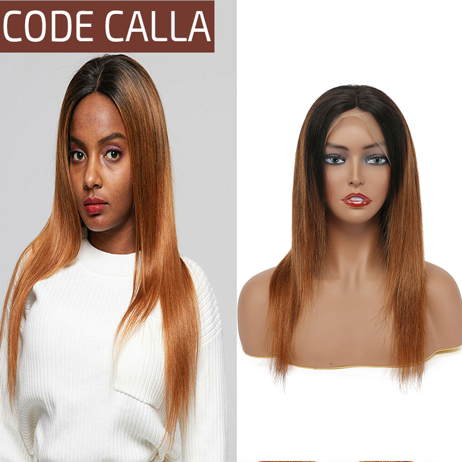 Ombre Lace Front Human Hair Wigs For Women Pre Plucked Hairline 4*4 Lace Closure 13*4 Lace Frontal Malaysian Hair Wig Code Calla