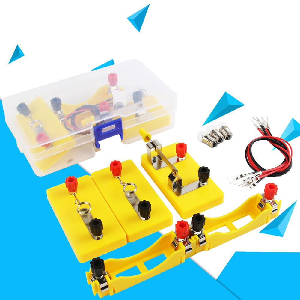 Kids Circuit Toy Experimental Equipment Electricity Discovery School Lab Box Learning Early Educational Toy Tool Kit Kids Gift
