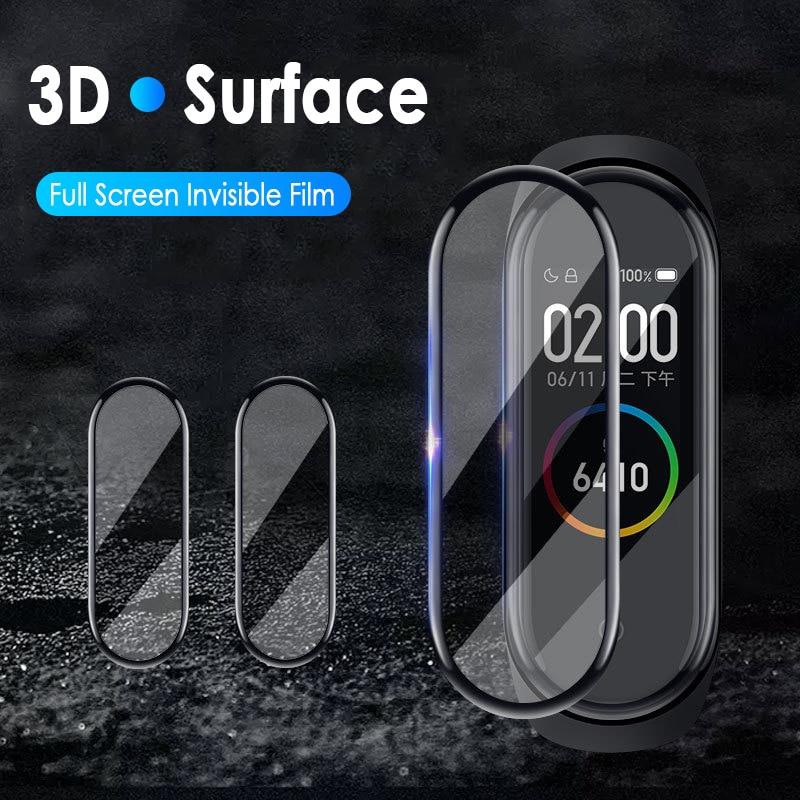 1/2/3/5 шт. Защитное стекло для экрана для XiaoMi Mi Band 5 мягкое стекло Fcured Smart Wistband PET защитная пленка для Xiaomi Band 5|Смарт-аксессуары|   | АлиЭкспресс