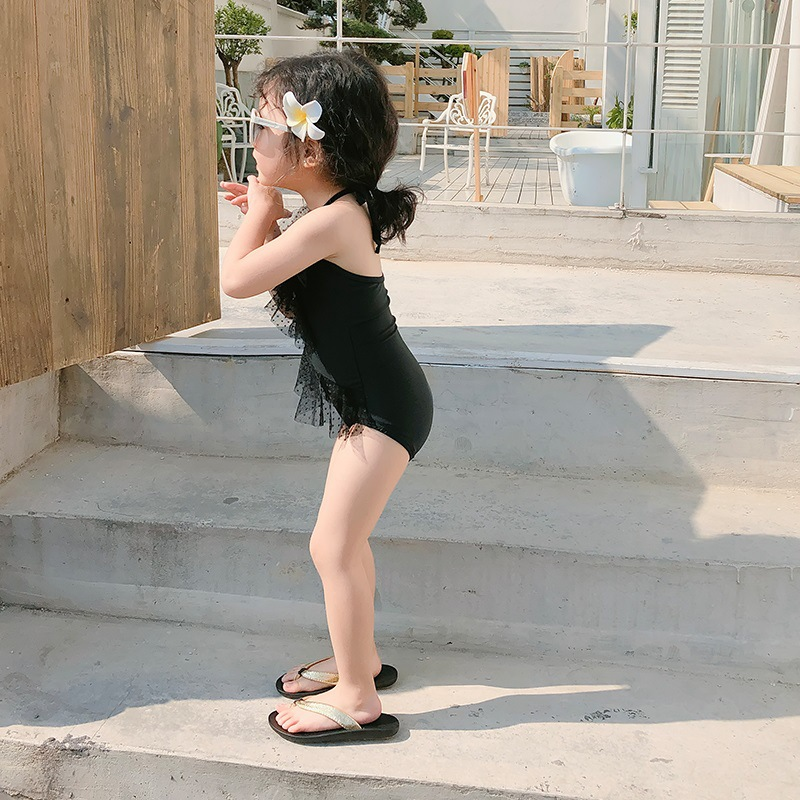 2020 New Style Children Triangular One-piece Swimming Suit Korean-style Girls Children Swimwear