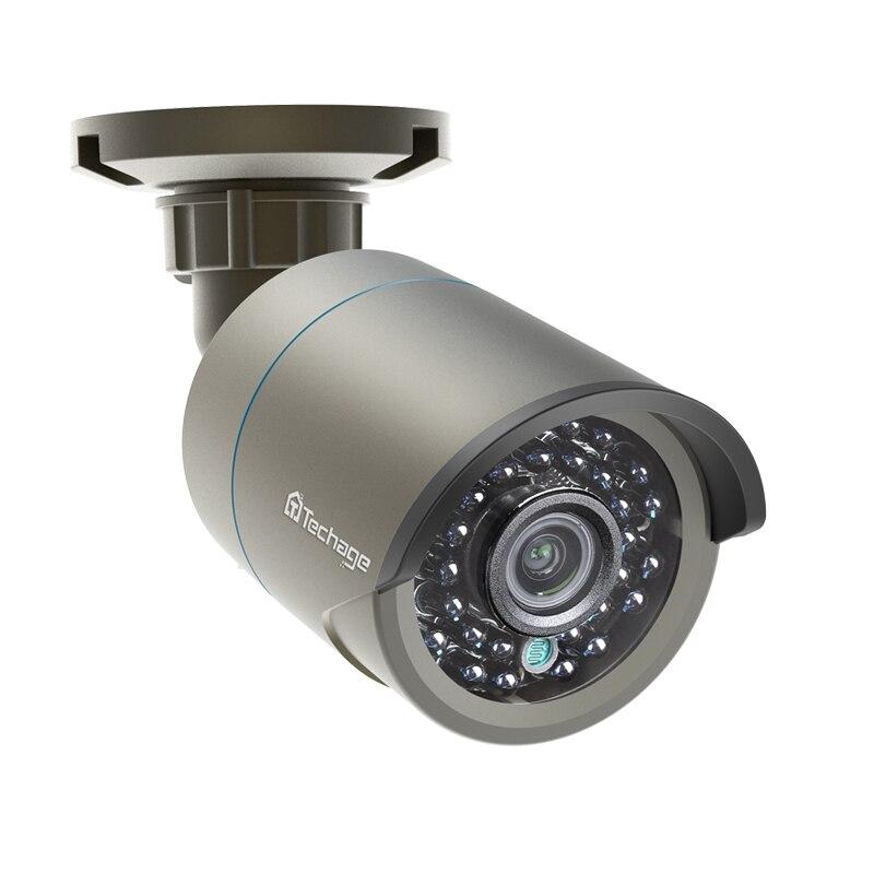 Techage 1080P h.265 POE IP Kamera 2MP Audio Sound Rekord Onvif 48V Sicherheit CCTV Überwachung Im Freien IR Cut nachtsicht Kamera