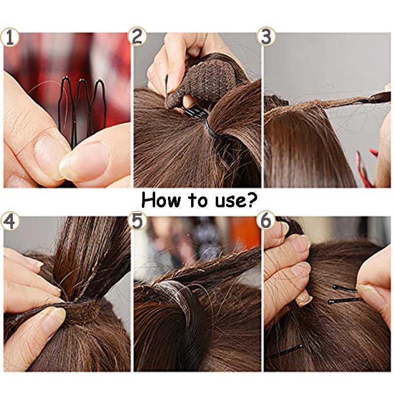 AOSI, pinza recta en la cola del pelo, cabello falso de 24 pulgadas, con horquillas Peluca de cola de caballo, extensiones sintéticas de pelo de cola de Pony para mujeres