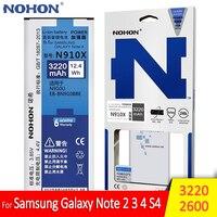 NOHON-batería Original de alta capacidad para Samsung Galaxy Note 2, 3, 4, S4, Note2, N7100, NFC, N9000, N9100, N910X